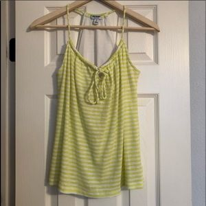 EUC Old Navy Lime Striped Tank Top